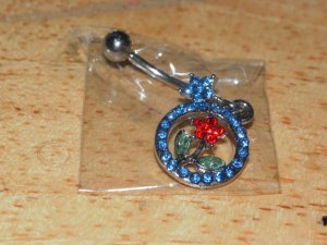 Blue Circle Flower Dangle 217