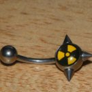 Caution Symbol With Spikes Navel 251