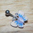 White/blue/pink Butterfly Navel 761