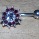 Red 10 gem Flower Navel 763