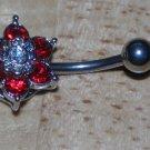 Red 6 gem Flower Navel 763