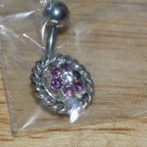 Small Purple Flower Navel 763