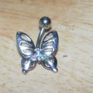 Pink Rainbow Gem Butterfly Navel 200