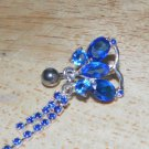Reverse Blue Butterfly Double Tail Navel 205