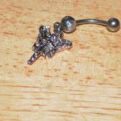 Small Fairy Dangle Multi Rainbow Navel 207