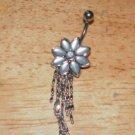 Pretty Long Flower Dangle White Navel 210