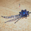 Pretty Long Flower Dangle Purple Navel 210