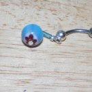 Glass Bead Dangle Navel 211
