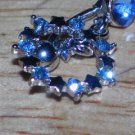 Blue Circle CZ Stars Navel 31
