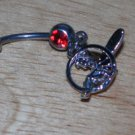 Fairy Circle Red CZ Navel 32