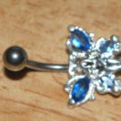 Fairy Gem Blue Wings Navel 33
