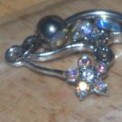 Gem Dangle Butterfly in Rainbow Navel 35