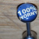 100% Horny Tongue Blue Flat 174