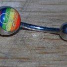 Male to Male Rainbow Love Logo Navel 184