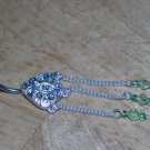 Teardrop Dangle in Green Navel 329