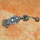 Tarnished Green Butterfly Flower Navel 333