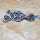 Tarnished Blue Butterfly Flower Navel 333
