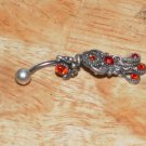 Tarnished Red Butterfly Flower Navel 333