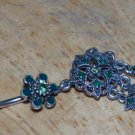 Tarnished Flower Star Green Charms Navel 335