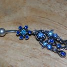 Tarnished Flower Blue Charms Navel 335