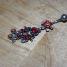 Tarnished Flower Red Charms Navel 335