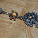 Tarnished Flower Star Yellow Charms Navel 335