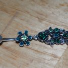 Tarnished Flower Green Charms Navel 335