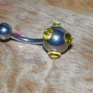 Yellow Polka Dot Spike Navel 341