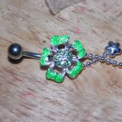 Flower Charms Green Navel 404
