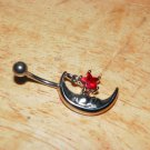 Moon Star Charm Red Navel 434