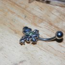 Frog Green CZ Gems Navel 445
