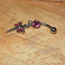 Two Tone Dragonfly Pink Navel 442