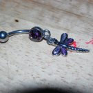 Two Tone Dragonfly Purple Navel 442