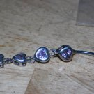 4 Heart Dangle Navel 533