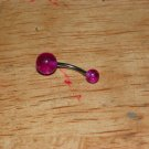 Purple Sparkle Ball Navel 639