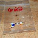 Orange/Blue/Yellow/White Cricket Ball Navel 622