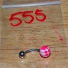 Dark Pink & White Checkers Navel 555