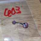 Black & Red Swirl Navel 603