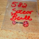 Red Soccer Ball Navel 582
