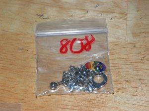 Medium Rainbow Dangle Handcuffs Nipple Shield Pairs 808