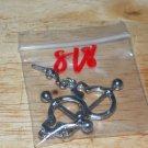 Silver Handcuffs Gun Dangle Charms Nipple Shield Pairs 818