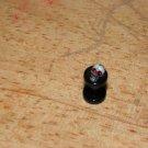 Black 8 Gauge Skull Plug Red Eyes 36