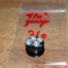 "Black 9/16"" Gauge Skull Plug White Eyes 36"
