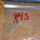 Red Ribbon with Charms Navel 843