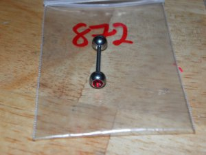 Red Gem Round Tongue 872