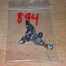 Tribal Rainbow Heart Necklace Navel 894