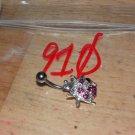 Ladybug Large Pink CZ Navel 910