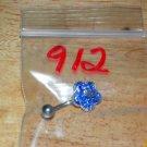 Blue/Silver Flower Navel 912