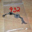 Black CZ Gem Flower Dangle Navel 932
