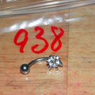 White CZ Star Navel 938